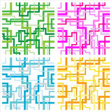 Seamless interweaving lines pattern Stock Photography