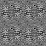 Seamless interweaving lines pattern. Royalty Free Stock Photo