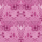 Seamless intricate circle ornaments pink violet purple Stock Photography