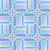 Seamless intricate circles pattern violet blue purple Stock Photo