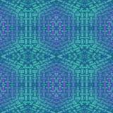 Seamless intricate diamond pattern turquoise aquamarine purple netting Royalty Free Stock Photos