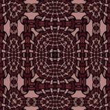 Seamless intricate ellipses pattern dark brown beige black netting Stock Photography