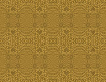 Seamless intricate ellipses pattern ocher brown gold Royalty Free Stock Photos