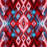 Seamless intricate ikat pattern background Stock Image