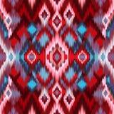 Seamless intricate ikat pattern background Stock Image