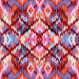 Seamless intricate ikat pattern background Royalty Free Stock Photos
