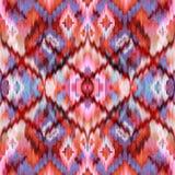Seamless intricate ikat pattern background Royalty Free Stock Photos