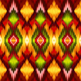 Seamless intricate ikat pattern background Royalty Free Stock Photography