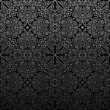 Seamless islam pattern. Vintage black floral background Royalty Free Stock Photos