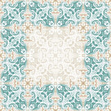 Seamless islam pattern. Vintage floral background in pastel color Royalty Free Stock Image