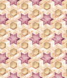Seamless Islamic Geometry. Hand drawn watercolor seamless islamic geometric pattern. Decorative backdrop for fabric, textile, wrapping paper, card, invitation Royalty Free Stock Photography