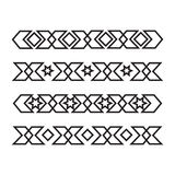 Seamless islamic ornamental borders Royalty Free Stock Photo