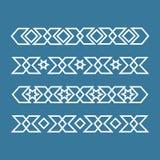 Seamless islamic ornamental borders Royalty Free Stock Images