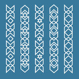 Seamless islamic ornamental borders. Seamless pattern border, arabic Stock Image