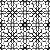 Seamless Islamic Pattern Black and White Vector Illustration royalty free illustration