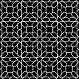 Seamless Islamic Pattern Black and White Vector Illustration vector illustration