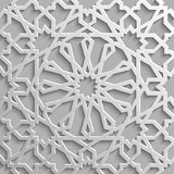 Seamless islamic pattern 3d . Traditional Arabic design element. Royalty Free Stock Photo