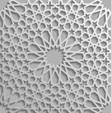 Seamless islamic pattern 3d . Traditional Arabic design element. Royalty Free Stock Photo