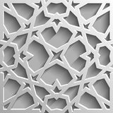 Seamless islamic pattern 3d . Traditional Arabic design element. Stock Photography