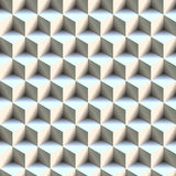 Seamless isometric cube background Stock Images