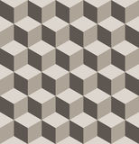 Seamless isometric cube pattern royalty free stock photography
