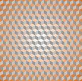 Seamless isometric cube pattern. Seamless isometric cube orange and grey pattern Stock Photography