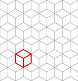 Seamless isometric cubes background Stock Images