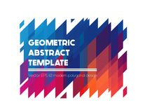 Seamless isometric pattern. Vector absract geometric shapes, polygonal banner in bright colors Royalty Free Stock Photos