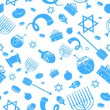 Seamless Israeli Holiday Pattern Royalty Free Stock Photo
