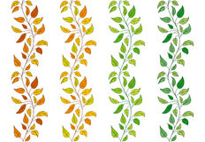 Seamless ivy borders. Collection of 4  seamless leavy borders Royalty Free Stock Photography