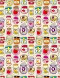 Seamless jam pattern. Illustration Royalty Free Stock Images
