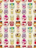 Seamless jam pattern. Cartoon vector illustration Royalty Free Stock Photo