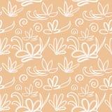 Seamless japanese pattern on pastel peach background vector illustration