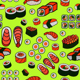 Seamless Japanese food pattern Stock Photo