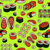 Seamless Japanese food pattern Stock Photo