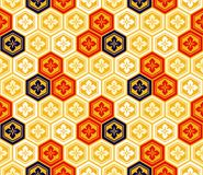 Seamless japanese kikkou pattern Royalty Free Stock Images
