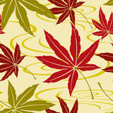 Seamless Japanese Maple Pattern Stock Photography