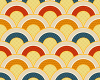 Seamless japanese ocean wave pattern Royalty Free Stock Photo