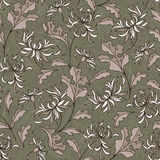 Seamless japanese pattern with lily Royalty Free Stock Images