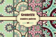 Seamless japanese pattern set. Royalty Free Stock Photo