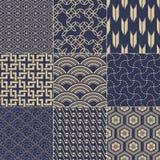 Seamless japanese pattern. Seamless traditional japanese mesh pattern Vector Illustration