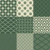 Seamless japanese pattern. Seamless traditional japanese mesh pattern Stock Illustration