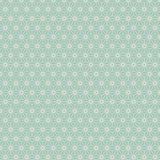 Seamless Japanese style geometry flower pattern. Royalty Free Stock Images