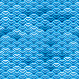 Seamless japanese waves Stock Images