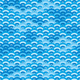 Seamless japanese waves Royalty Free Stock Image