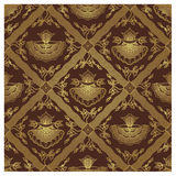 Seamless Javanese Batik Pattern - Floral Stock Photography