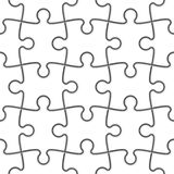 Seamless Jigsaw Puzzle Stock Photography