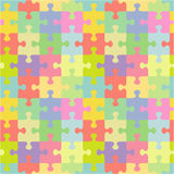 Seamless jigsaw puzzle pattern stock illustration