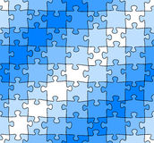 Seamless jigsaw puzzle pattern Royalty Free Stock Photography
