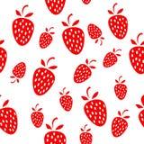 seamless jordgubbar för bakgrund Fotografering för Bildbyråer